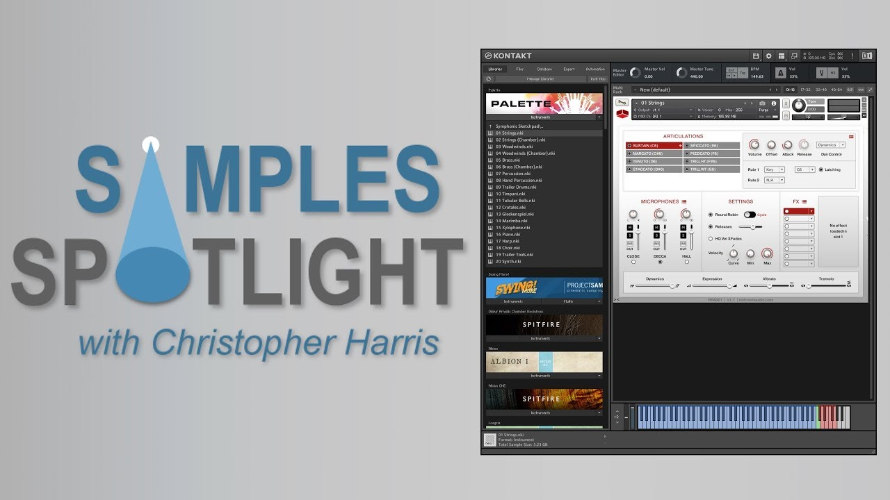 Samples Spotlight S Review Of Palette By Red Room Audio Sample Library Review