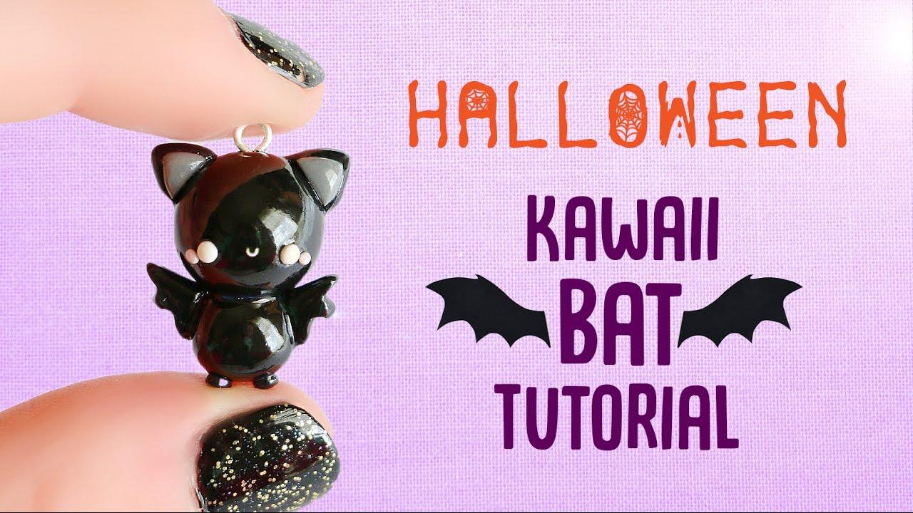 Kawaii Bat│Polymer Clay Halloween Tutorial - YouTube