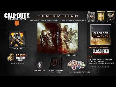 Call of Duty: Black Ops 4 SPECIAL EDITIONS Revealed, Pre-Order Bonuses, & Black Ops Pass Details