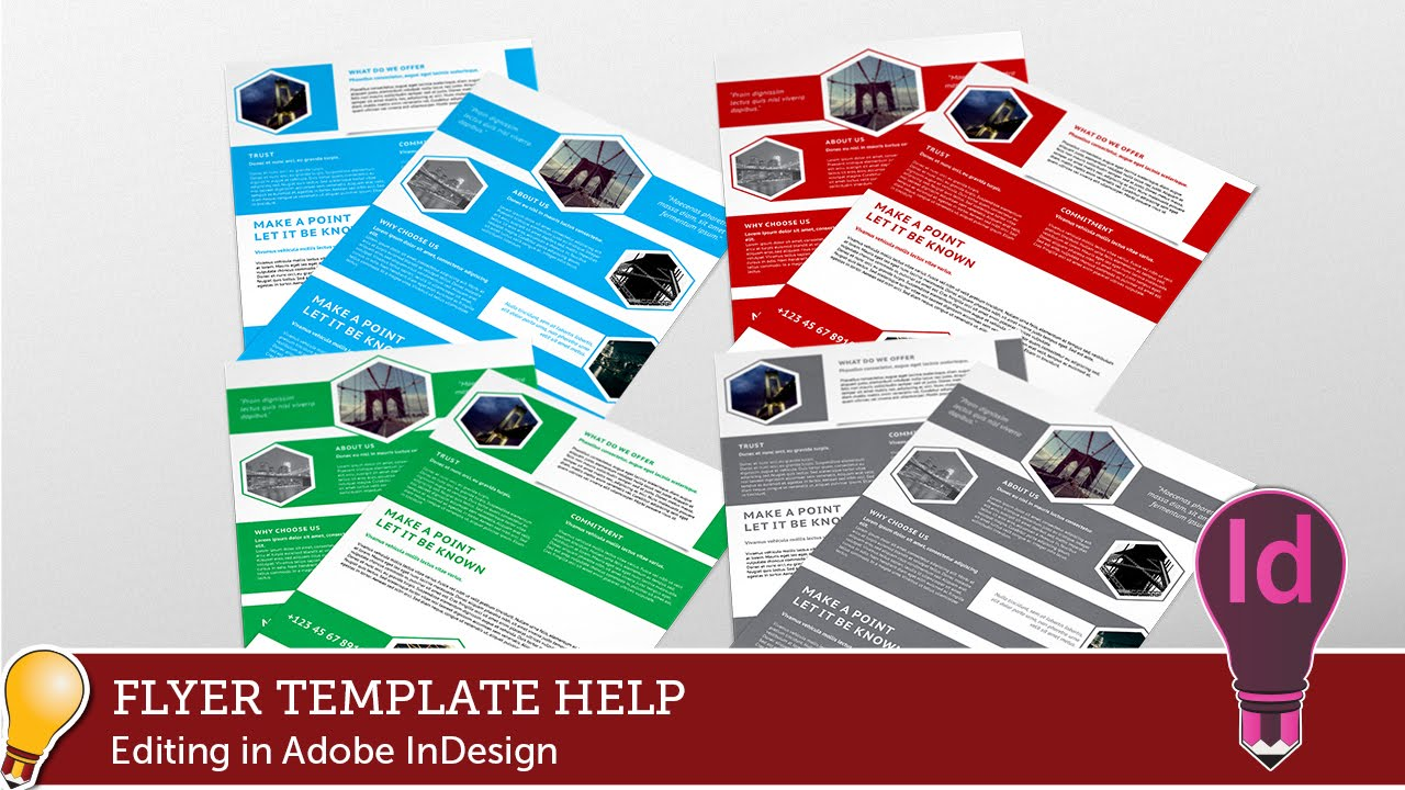 Corporate Hive Flyer Template Editing With Adobe Indesign Youtube