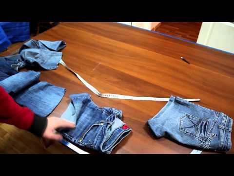 Как сшить шорты из старых джинсов