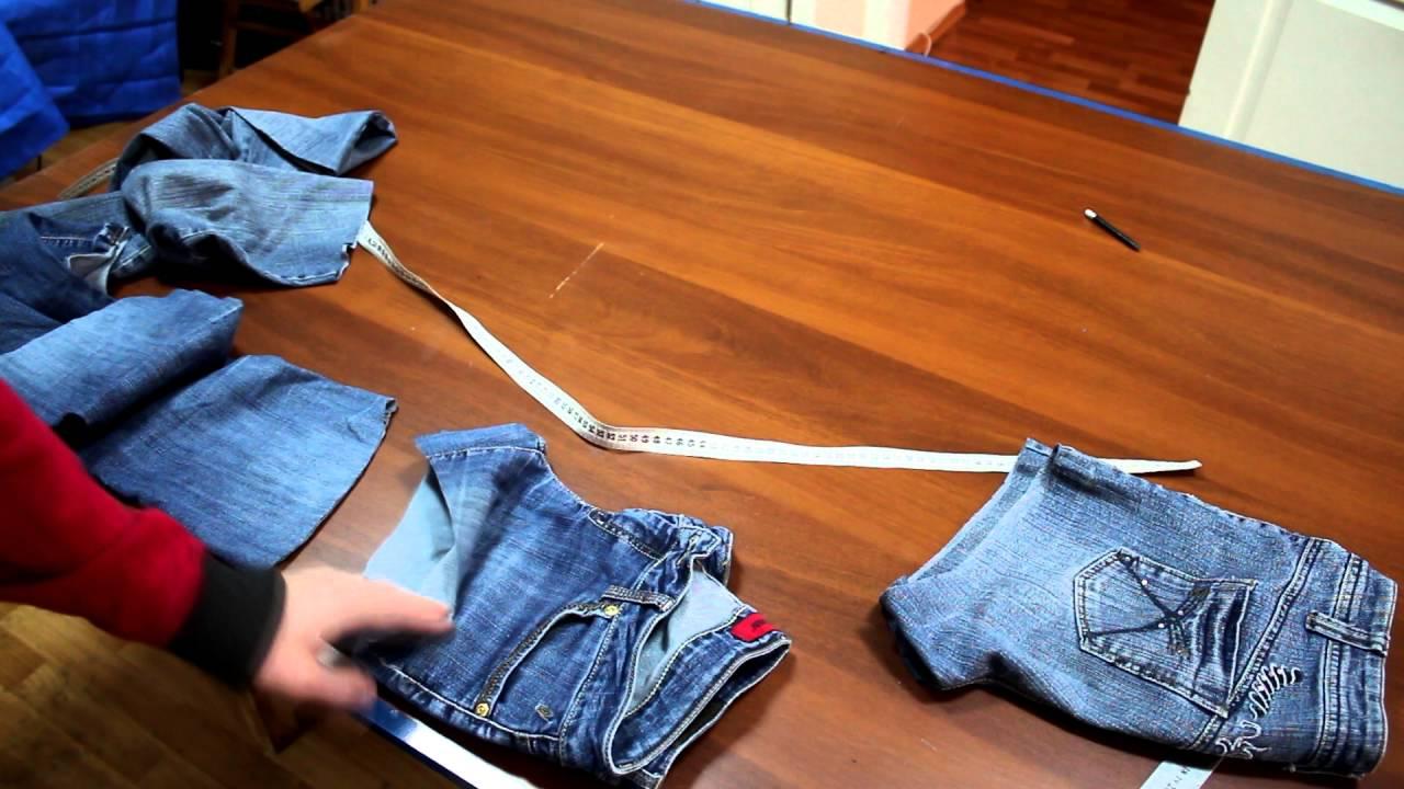 Сшить детские шорты из старых джинс