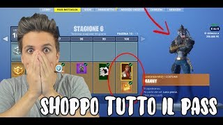 SHOPPO ALL THE BATTLE PASS 6! Skin FINAL ASSURDA! Fortnite ITA