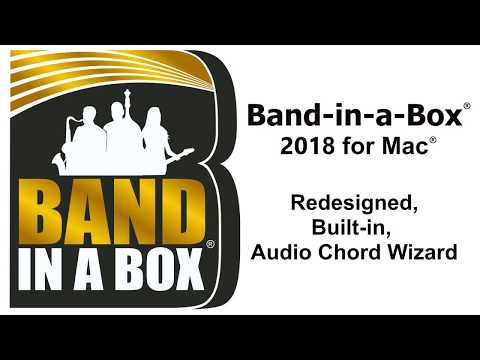 Audio Chord Wizard in Band-in-a-Box® 2018 for Mac®