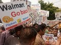 Mass Protest Against Wal Mart ll Jantar Mantar Live