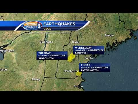 Are recent earthquakes in NH unusual?