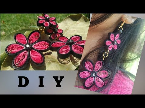 DIY paper quilling earring | Crafting video #3 |