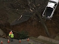 Raw: Massive Sinkhole Opens in PA. Neighborhood