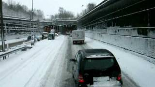 Schneechaos vorm Tunnel in Rendsburg ! ;-(