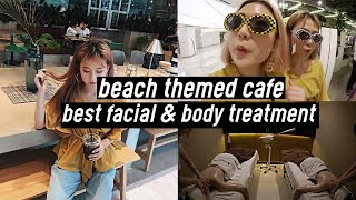 BEST Facial & Body Treatment, Beach Themed Cafe, Shopping Earrings, Unboxing Facetory | DTV #31