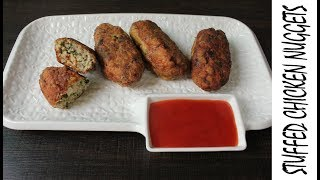 CHICKEN NUGGETS-STUFFED CHICKEN NUGGETS BY HAFSA