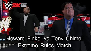 WWE 2K15 PC Mod - Howard Finkel Vs Tony Chimel Extreme Rules Match