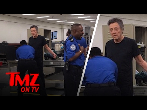 Christopher Walken Gets a TSA Pat Down | TMZ TV