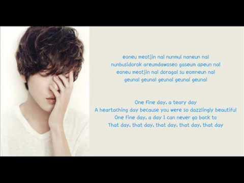 [Eng Sub] Jung Yong Hwa - One Fine Day Lyrics