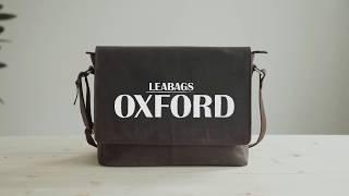 LEABAGS Oxford Umhängetasche 13 Zoll Laptoptasche im Vintage Look