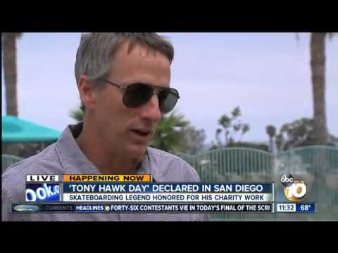 San Diego honors skateboarding legend Tony Hawk