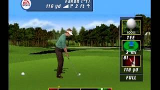 Tiger Woods PGA Tour Golf (2001) -- Playstation PS1 -- Gameplay