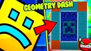 HOW TO MAKE A PORTAL TO THE GEOMETRY DASH DIMENSION - MINECRAFT GEOMETRY DASH