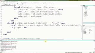 Roblox lua tutoriais-20: mais comandos