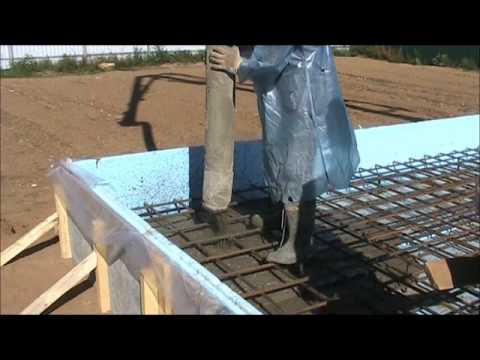 Заливка фундамента - монолитная утепленная плита