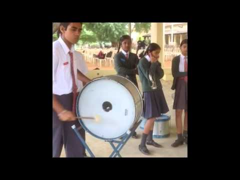 army public school bangalore students playing various musical instruments