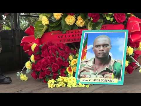 Images For French Report Assassinated Military Persons in Mamfe given Last Respect