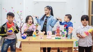 Kids Go To School | Children Chuns learn the statue and learn to draw colors