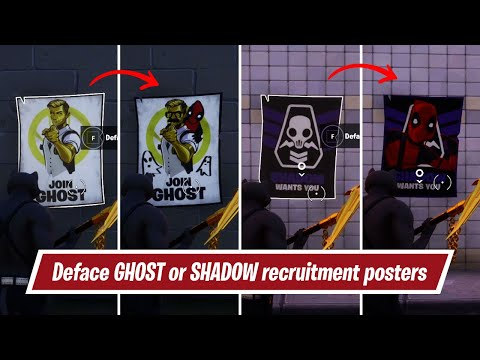 Deface GHOST Or SHADOW Recruitment Posters | Deadpool Week 6 Challenge
