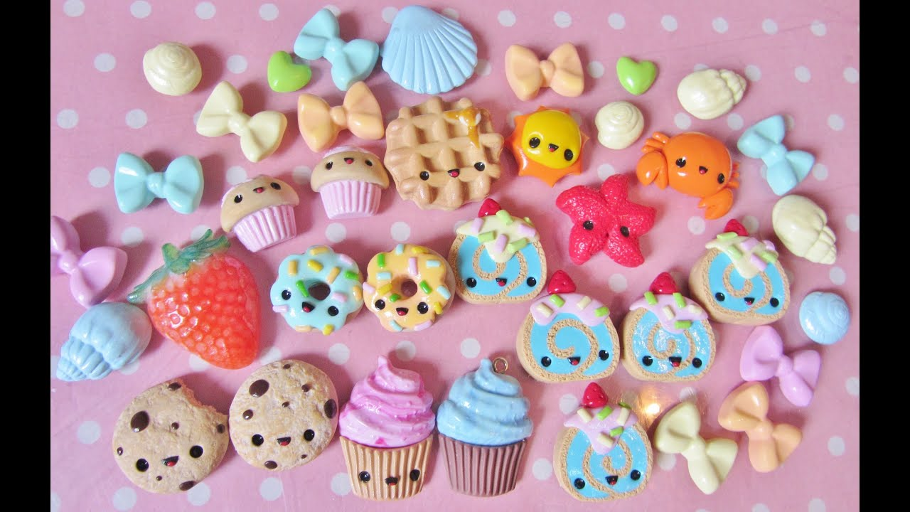 Kawaii Charms Update 25 Polymer Clay Charms YouTube