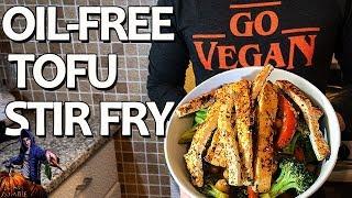 EASY Tofu Stir Fry VEGAN + OIL-FREE