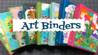 Craft Fair Idea #12:  ART BINDERS **ALL SOLD** | Using Dollar Tree Mini Binders| 2019
