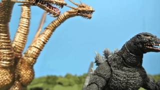 Godzilla Vs. King Ghidorah Stop motion