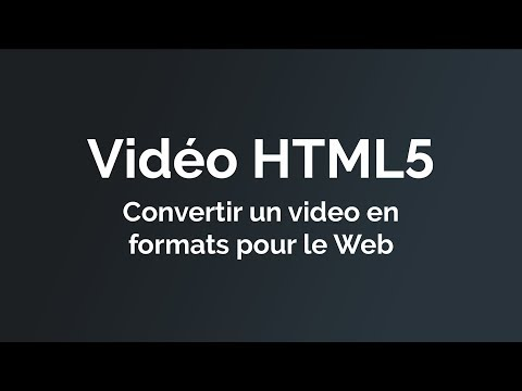 Convertir un video pour HTML5 en format WebM ou MP4 avec Miro Video Converter