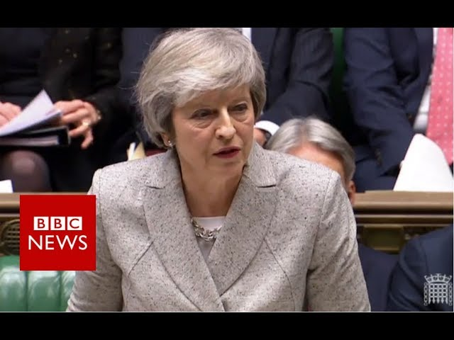 Theresa May updates MPs on draft Brexit deal - BBC News