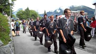 Murren Cow Bell Ringers in National Swiss Day Parade  Aug 2011