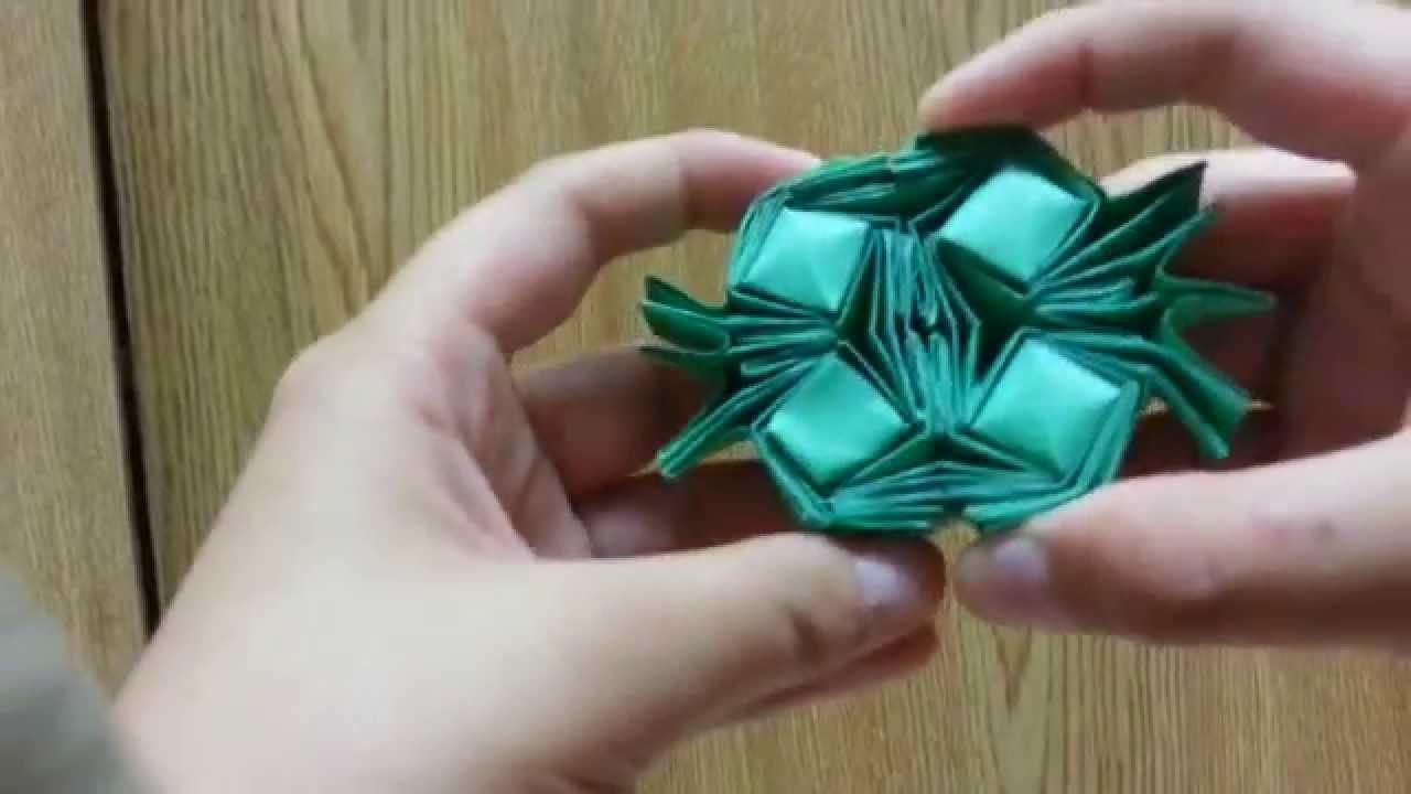 origami crazy flasher tessellation designed by greenart4
