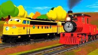 Развивающий мультфильм про паровозик Шонни. Учим размеры