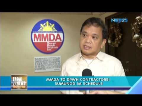 MMDA to DPWH contractors Sumunod sa Schedule