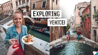 Venice CITY TOUR! - Best Coffee, Delicious Cicchetti, Glass Blowing + MORE!