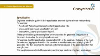 Geotextile lecture (part 4 of 4)