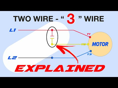 HOW TO RUN A THREE PHASE MOTOR ON SINGLE PHASE SUPPLY  YouTube