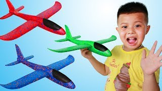 Susu KIDs Tube |  Susu and you control Aircraft | Funny Baby.