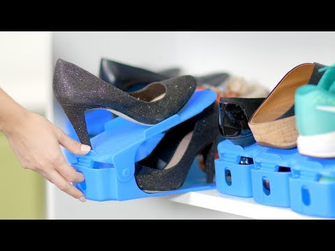 Easy Shoe Organizer - Easily Organize Your Shoes Using Half The Space!