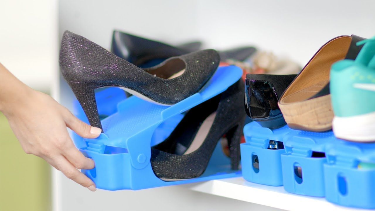 easy shoe organizer easily organize your shoes using half the space - Shoes Organizer