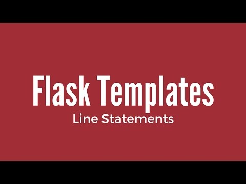 How To Use Jinja Line Statements In Flask