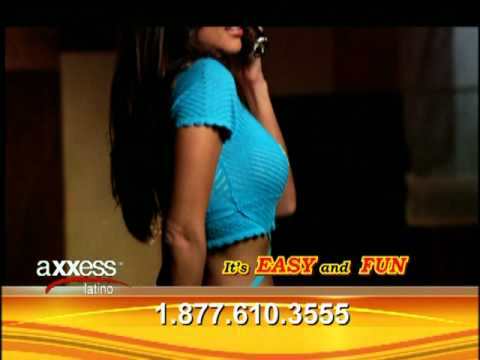 Axxess Latino Chat Commercial - Hot Sexy Spanish Speaking Phone Chat Line