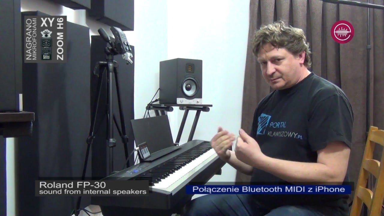 Roland Fp 30 Demo Onboard Speakers Sound Demo Bluetooth Wave Player English Subtitles Youtube