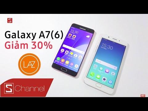 Schannel - Galaxy A7 2016 giảm shock 30% còn 6.1 triệu, so với OPPO F1s liệu máy nào đáng mua hơn?