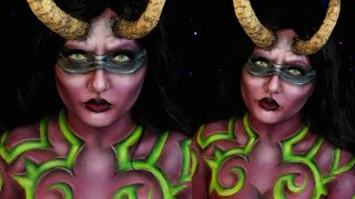 Illidan Stormrage Lady Halloween Makeup Tutorial | World of Warcraft | Jordan Hanz