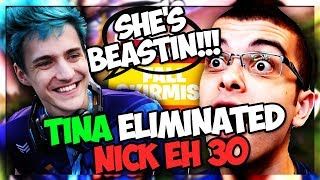 I killed Nick Eh 30 in the Fortnite Fall Skrimish and Ninja reacted to it